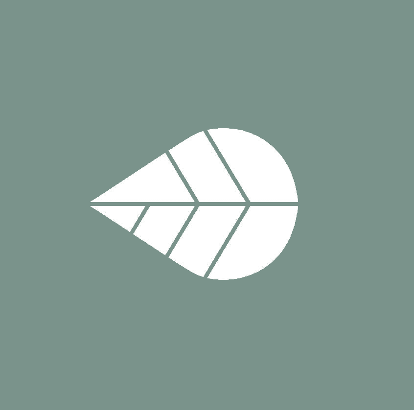 naekointeriors-logo with leaf-light green