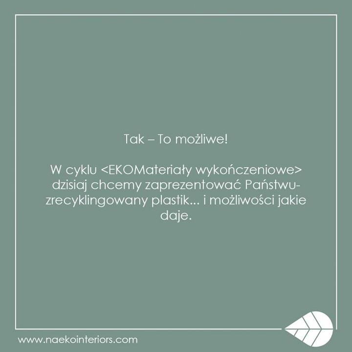 Jasnozielona plansza z hasłem opisowym o ekomateriałach